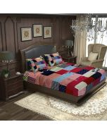 Fab patch  BunkoJunko Multicolor Double bed spread  with  2 pillow cover