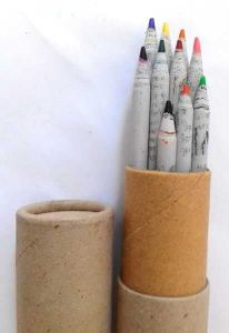 Upcycled Newspaper Rolled Drawing Pencils (Pack of 10)