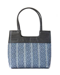 Designer Handbag made from rice sacks and yarn