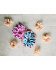 Printed Scrunchies Elastic Hair Bobbles for Ponytail Holder,Hair Accessories(Set of 2)