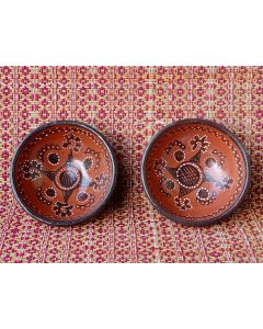 Kutch Painted Pottery Bowl 3.5 inch (Set of 2)