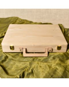 The Time Traveler I classic briefcase handcrafted from pine wood